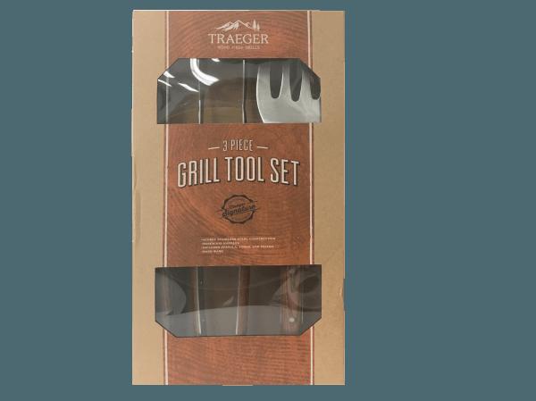 מלקחיים והוק מנירוסטה - Traeger Grill מעשנת בשר