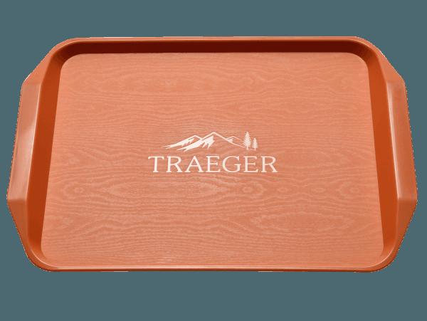 מגש פלסטיק איכותי עם ידיות אחיזה ושפה מוגבהת למעשנה - Traeger Grill מעשנת בשר