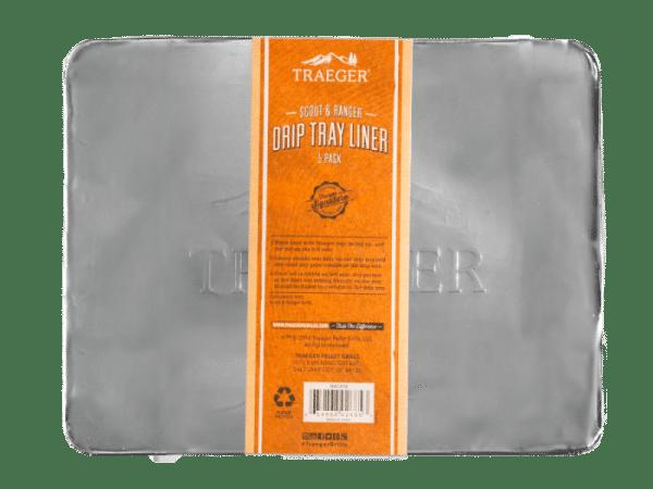 ציפוי אלומיניום חד פעמי למגש האיסוף לדגם ריינג'ר, 5 יחידות של טרייגר - טרייגר גריל, מעשנת בשר, טאבון, שבבי עץ לעישון, כלים למנגל ואביזרים למנגל