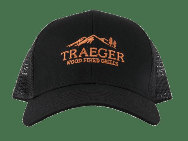 כובע שחור עם לוגו של טרייגר - Traeger Grills, מעשנת פאלטס, גריל בשר, טאבון, כפיסי עץ, ערכת מנגל וכלי עבודה למנגל