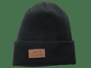 כובע גרב שחור עם לוגו של טרייגר - מעשנת בשר, כפיסי עץ ואביזרים למנגל