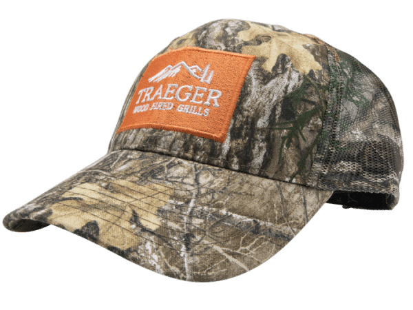 כובע מצחייה עם צבעי הסוואה של טרייגר גריל - מעשנת פלטס, ואביזרים למנגל