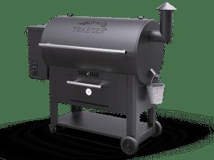מעשנת בשר וגריל בשר דגם סנטורי 34 של חברת Traeger Grills המומחים בייצור ושיווק של מעשנות בשר,שבבי עת לעישון, כלים למנגל ואביזרים למנגל.