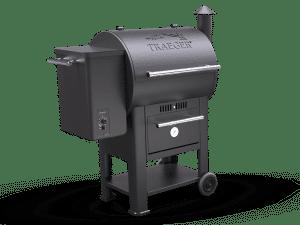 מעשנת בשר וגריל בשר דגם סנטורי 22 של חברת Traeger Grills המומחים בייצור ושיווק של מעשנות בשר,שבבי עת לעישון, כלים למנגל ואביזרים למנגל.