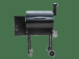 מעשנת בשר וגריל בשר דגם ליל טקס של חברת Traeger Grills המומחים בייצור ושיווק של מעשנות בשר,שבבי עת לעישון, כלים למנגל ואביזרים למנגל