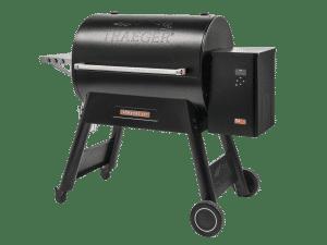 מעשנת בשר וגריל בשר דגם D2 885 של חברת Traeger Grills המומחים בייצור ושיווק של מעשנות בשר,שבבי עת לעישון, כלים למנגל ואביזרים למנגל.
