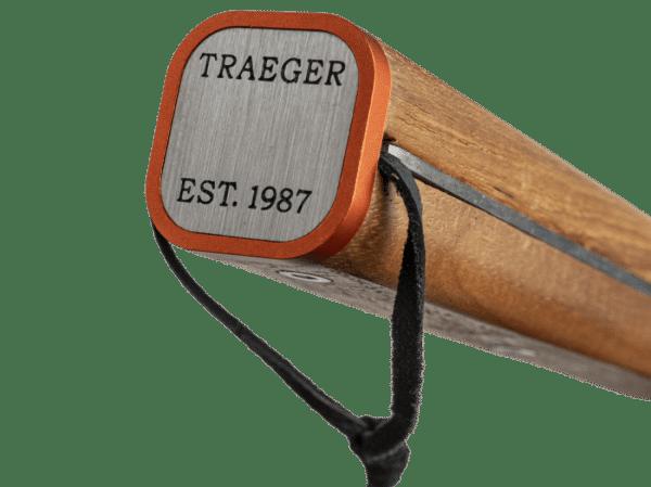 אביזרים למנגל וכלים למנגל - וו נירוסטה עם ידית עץ טיק - Traeger Grills